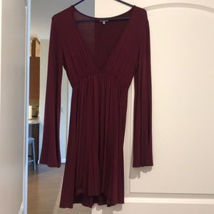 Maroon flowy dress